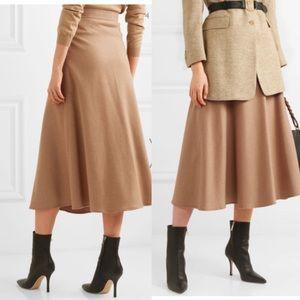 NWT Camel Midi Skirt Wool Riding Skirt Talbots